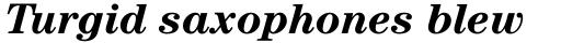 ITC Century Bold Italic sample