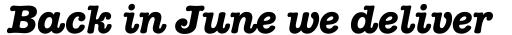 American Typewriter Bold Italic A sample