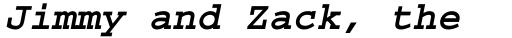Courier Std Bold Oblique sample