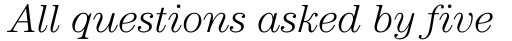 ITC Century Light Italic sample
