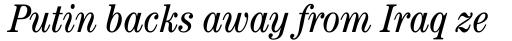 ITC Century Cond Book Italic sample