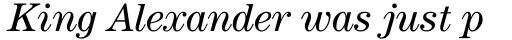 ITC Century Book Italic sample