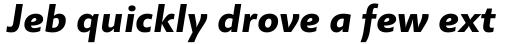 Miramonte Pro Bold Italic sample