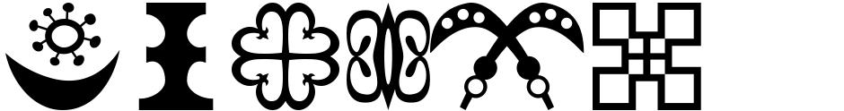 Click to view Adinkra Symbols font, character set and sample text