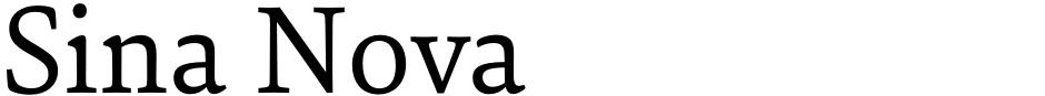 Click to view Sina Nova font, character set and sample text