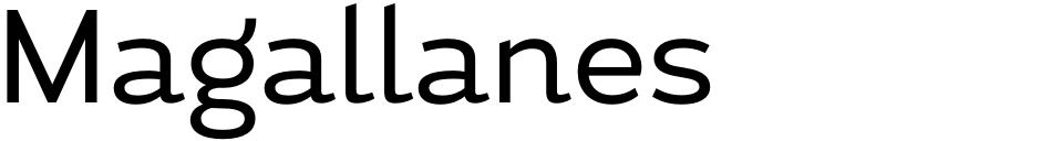 Click to view Magallanes font, character set and sample text