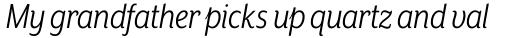 Mr Eaves XL Sans Nar Book Italic sample