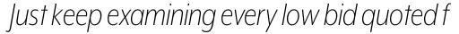 Mr Eaves XL Modern Nar Light Italic sample