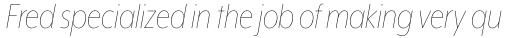 Mr Eaves XL Modern Nar Thin Italic sample