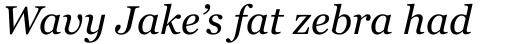 Georgia Pro Italic sample