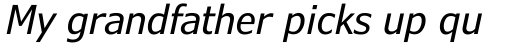 Verdana Pro Condensed Italic sample