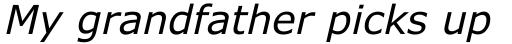 Verdana Pro Italic sample