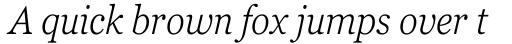 Georgia Pro Condensed Light Italic sample