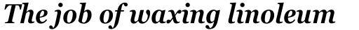 Georgia Pro Condensed SemiBold Italic sample