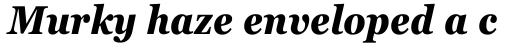 Georgia Pro Condensed Bold Italic sample