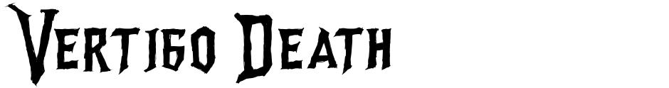 Click to view Vertigo Death font, character set and sample text