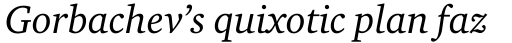 Charter Italic sample