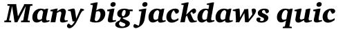 Charter Black Italic OS sample