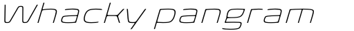 Biome Pro Wide ExtraLight Italic sample