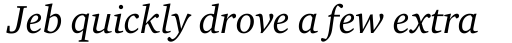 Charter Italic OS sample