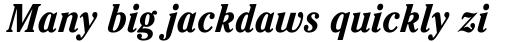 ITC Cheltenham Condensed Bold Italic sample