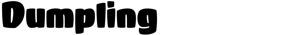 Click to view Dumpling font, character set and sample text