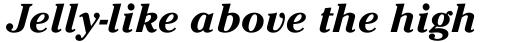ITC Cheltenham Bold Italic sample