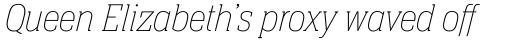 Neue Aachen Pro UltraLight Italic sample