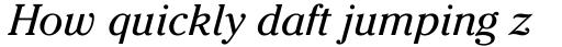 ITC Cheltenham Book Italic sample