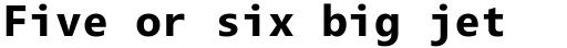 Segoe Mono Bold sample