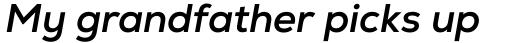 Nexa Bold Italic sample