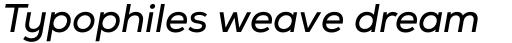 Nexa Italic sample