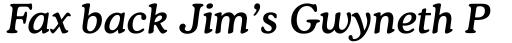 Cooper Medium Italic sample