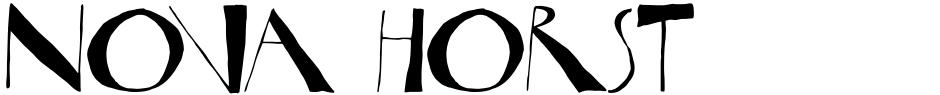 Click to view Nova Horst font, character set and sample text