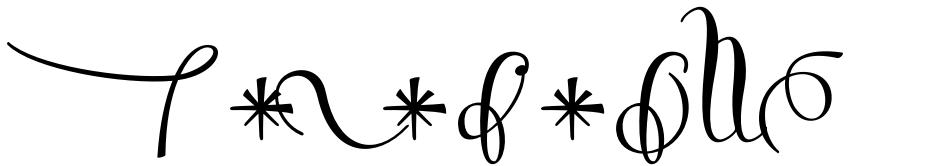 Click to view Salamander font, character set and sample text