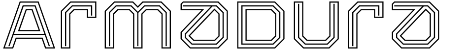 Click to view Armadura font, character set and sample text