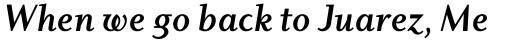 Dyadis Bold Italic sample