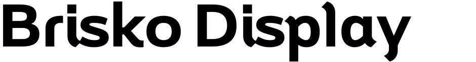 Click to view Brisko Display font, character set and sample text