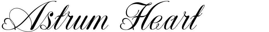 Click to view Astrum Heart font, character set and sample text