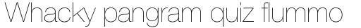 Helvetica Neue Pro UltraLight sample