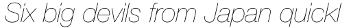 Helvetica Neue Pro UltraLight Italic sample