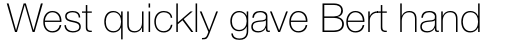 Helvetica Neue Pro Thin sample