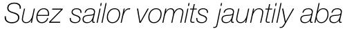 Helvetica Neue Pro Thin Italic sample