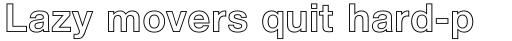 Helvetica Neue Pro Bold Outline sample