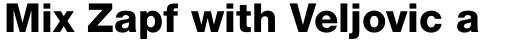 Helvetica Neue Pro Heavy sample