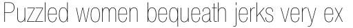Helvetica Neue Pro Cond UltraLight sample