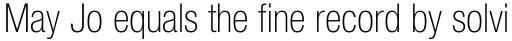 Helvetica Neue Pro Cond Thin sample