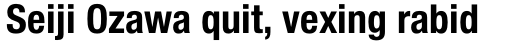 Helvetica Neue Pro Cond Bold sample