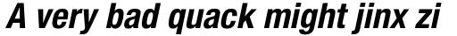 Helvetica Neue Pro Cond Bold Oblique sample