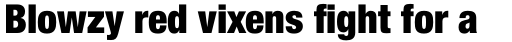 Helvetica Neue Pro Cond Black sample